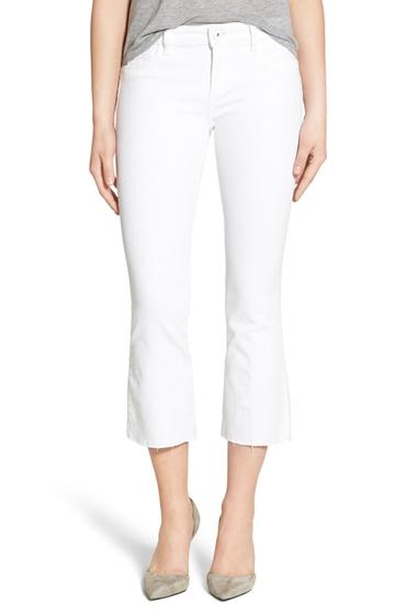 Imbracaminte Femei DL1961 Lara Raw Edge Crop Flare Jeans Porcelain PORCELAIN