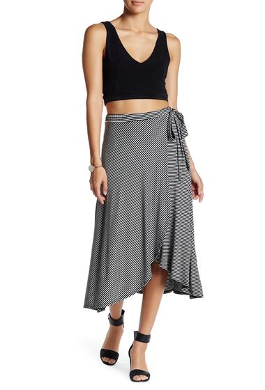 Imbracaminte Femei Bobeau Faux Wrap Midi Skirt GREY-BLACK