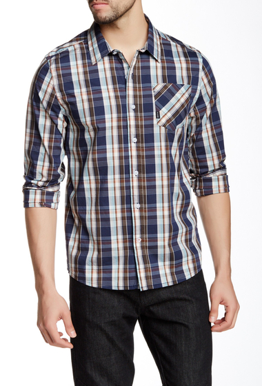 Imbracaminte Barbati Travis Mathew Sasquatch Regular Fit Shirt IRIS PLAID