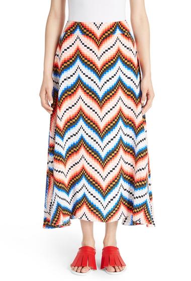 Imbracaminte Femei Kenzo Chevron Print Silk Skirt PEACH
