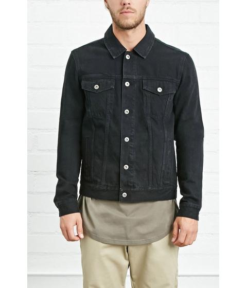Imbracaminte Barbati Forever21 Button-Front Denim Jacket Black
