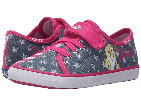 Incaltaminte Fete Keds Barbie AC Split (ToddlerLittle Kid) DenimPink Stripe Split