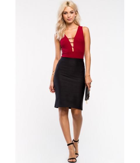 Imbracaminte Femei CheapChic Classy Ribbed Pencil Skirt Black