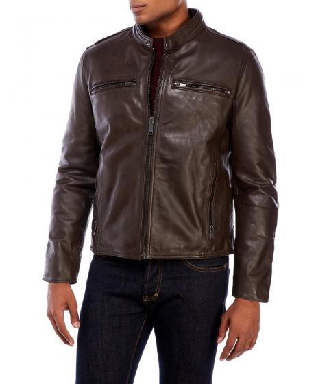 Imbracaminte Barbati Marc New York Leather Motorcycle Jacket Brown