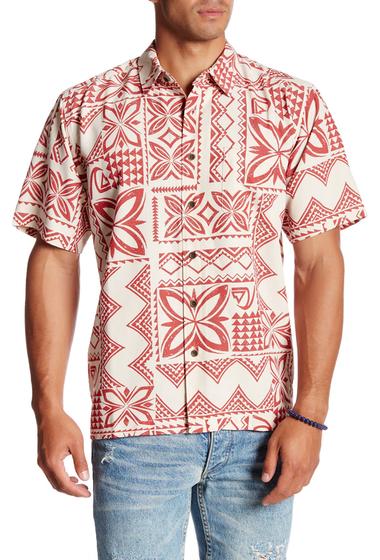 Imbracaminte Barbati Quiksilver Seafaring Print Short Sleeve Comfort Fit Shirt WEG0-BONE