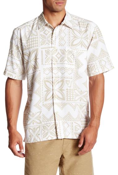 Imbracaminte Barbati Quiksilver Seafaring Print Short Sleeve Comfort Fit Shirt WBB0-WHITE