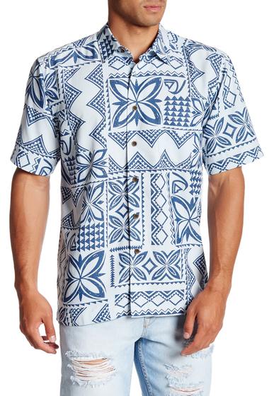 Imbracaminte Barbati Quiksilver Seafaring Print Short Sleeve Comfort Fit Shirt BZL0-PLEIN AIR