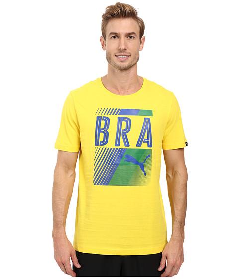 Imbracaminte Barbati PUMA Fan Tee Vibrant YellowBrazil