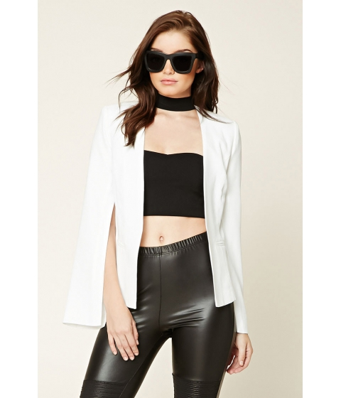 Imbracaminte Femei Forever21 Open-Front Blazer Ivory