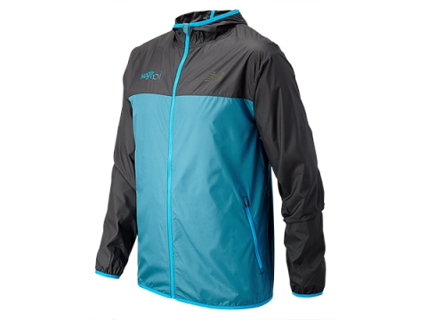 Imbracaminte Barbati New Balance HOCR Windcheater Jacket Deep Water with Black
