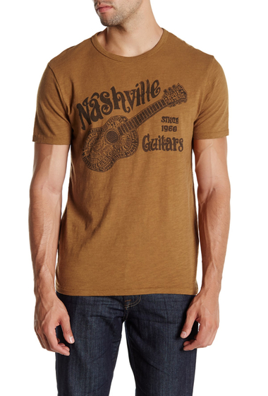Imbracaminte Barbati Lucky Brand Nashville Guitars Blues Tee BRONZE BROWN