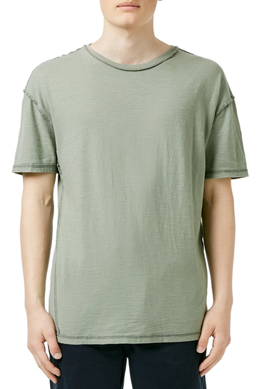 Imbracaminte Barbati TOPMAN Slub Oversize Crewneck T-Shirt LIGHT-GREEN