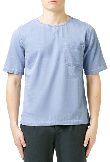 Imbracaminte Barbati TOPMAN Denim Pocket T-Shirt LIGHT-BLUE