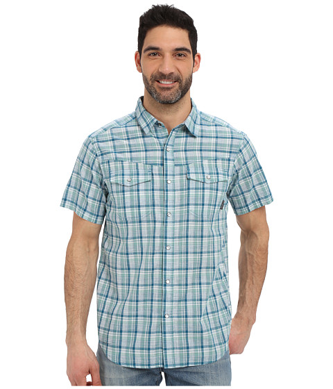 Imbracaminte Barbati Columbia Leadville Ridgetrade Short Sleeve Shirt Dark Turquoise Plaid