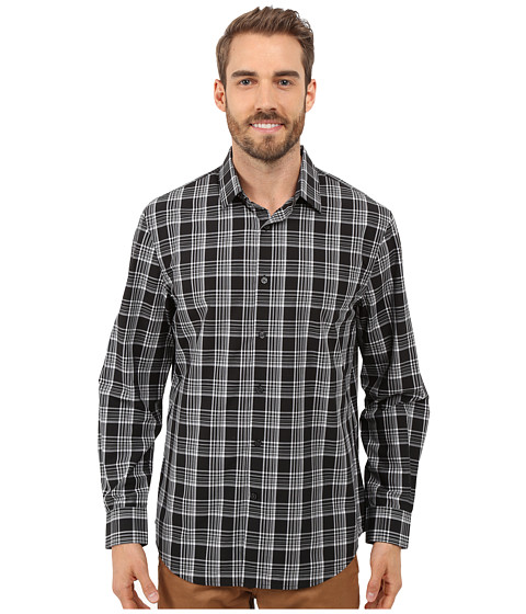Imbracaminte Barbati Perry Ellis Large Plaid Pattern Shirt Black