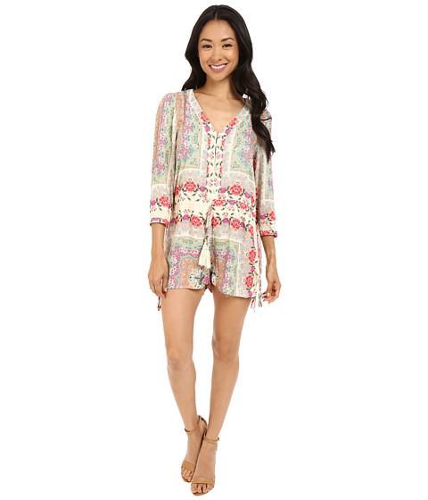 Imbracaminte Femei Brigitte Bailey Phoebe Button Up Romper with Waist Tie Multi