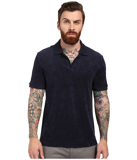 Imbracaminte Barbati Original Penguin Open Collar Terry Polo Dark Sapphire