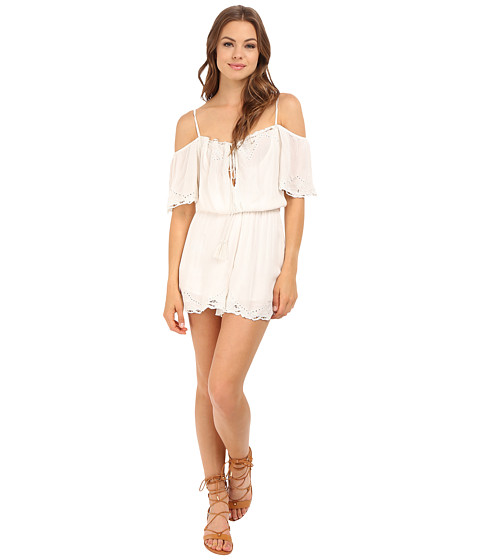 Imbracaminte Femei Free People White Romance Romper Ivory