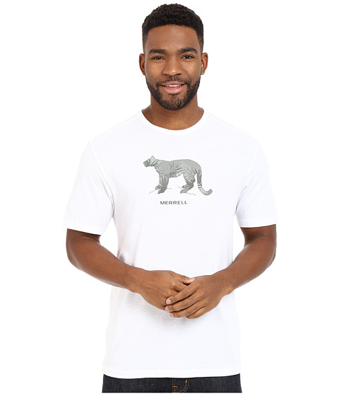 Imbracaminte Barbati Merrell Big Cat Graphic Tee White