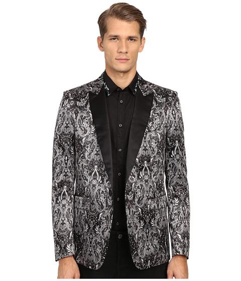 Imbracaminte Barbati Just Cavalli Royal Batik Print Satin Dinner Jacket Black