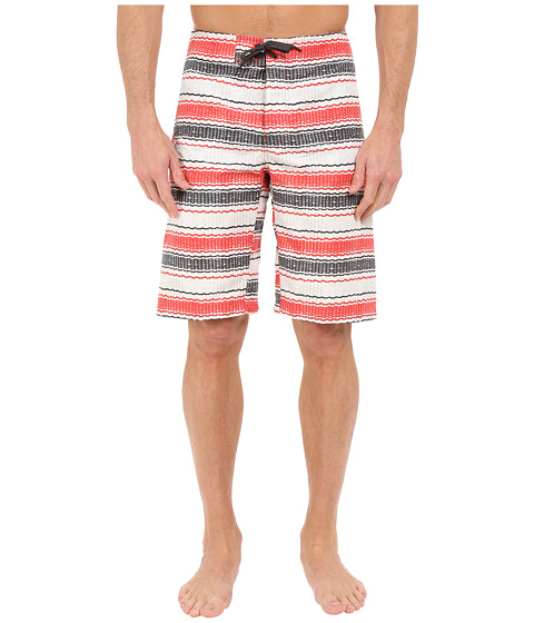 Imbracaminte Barbati Columbia Coast On Bytrade Boardshorts Sunset Red Burley Stripe