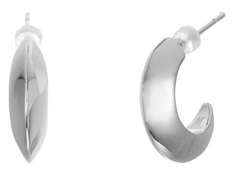 Bijuterii Femei LAUREN Ralph Lauren Luxe Links Small Knife Edge Hoop Earrings Silver