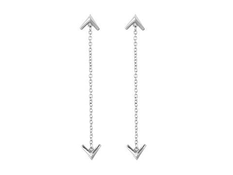 Bijuterii Femei Sam Edelman Double V Chain Drop Earrings Rhodium