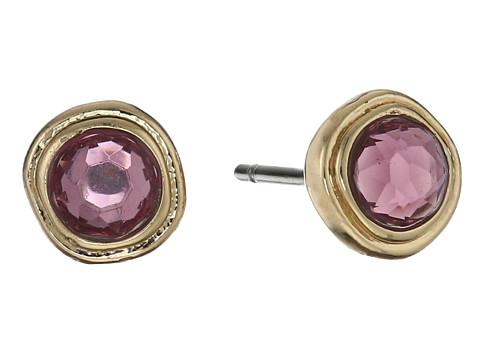 Bijuterii Femei LAUREN Ralph Lauren Pink Sands Round Stone Small Stud Earrings PinkGold