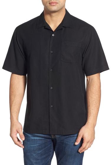 Imbracaminte Barbati Tommy Bahama Java Dobby Original Fit Silk Camp Shirt BLACK