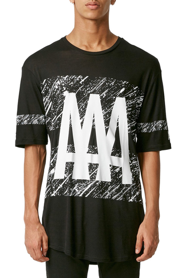 Imbracaminte Barbati TOPMAN AAA Print Oversize T-Shirt BLACK-MULTI