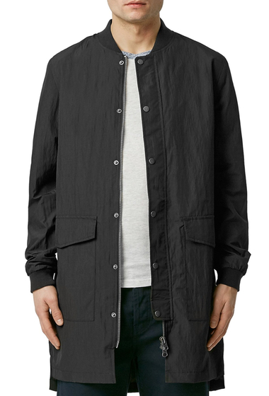 Imbracaminte Barbati TOPMAN Longline Mac Jacket BLACK