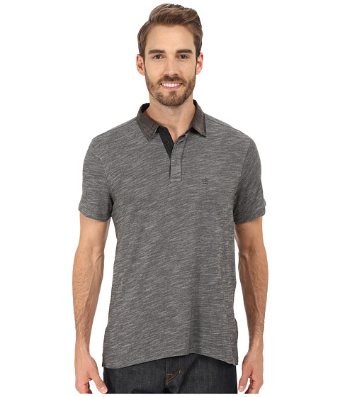 Imbracaminte Barbati Calvin Klein Slim Fit Denim Collar Polo Shirt Black