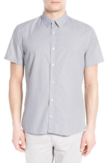 Imbracaminte Barbati J Lindeberg Dani Trim Fit Short Sleeve Sport Shirt DARK-BLUE