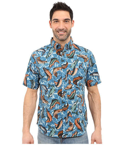 Imbracaminte Barbati Woolrich Walnut Run Printed Shirt Tidal Wave