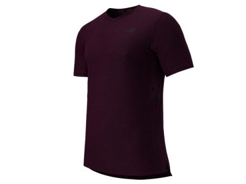 Imbracaminte Barbati New Balance Shift Short Sleeve Top Burgundy