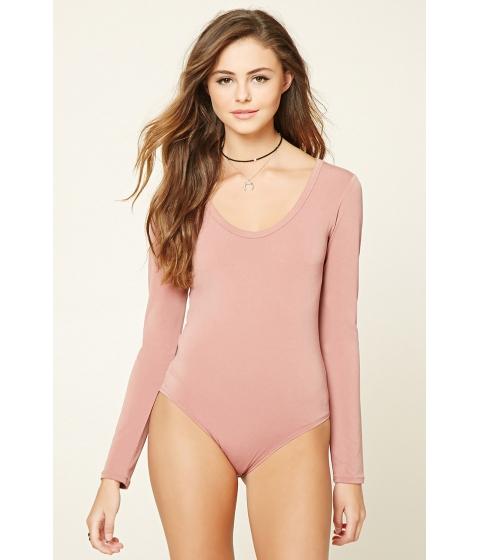 Imbracaminte Femei Forever21 Scoop Neck Bodysuit Mauve