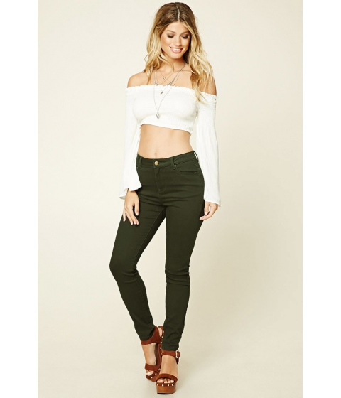 Imbracaminte Femei Forever21 Skinny Jeans Olive
