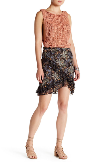 Imbracaminte Femei Free People Skirt Around World BLACK COMBO