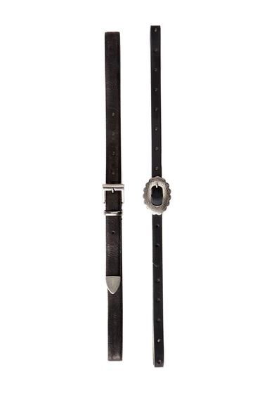 Accesorii Femei Steve Madden Western Belts- Set of 2 BLK-BLK