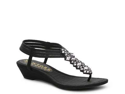 Incaltaminte Femei New York Transit Just Right Wedge Sandal Black