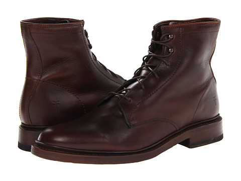 Incaltaminte Barbati Frye James Lace Up Dark Brown Smooth Full Grain