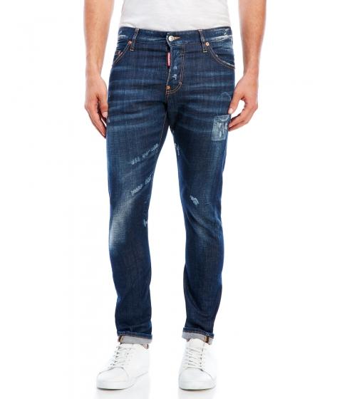 Imbracaminte Barbati DSQUARED2 Blue Distressed Jeans Blue