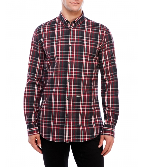 Imbracaminte Barbati DSQUARED2 Plaid Button-Down Shirt Red Grey