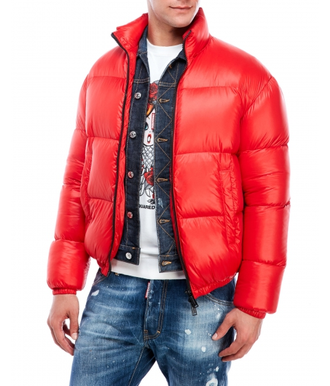 Imbracaminte Barbati DSQUARED2 Logo Down Jacket Red