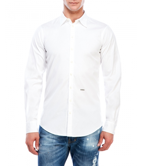 Imbracaminte Barbati DSQUARED2 Solid Tone Shirt White