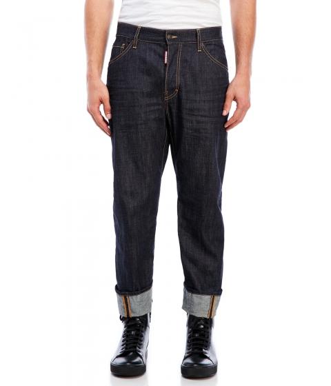 Imbracaminte Barbati DSQUARED2 Cuffed Denim Jeans Blue