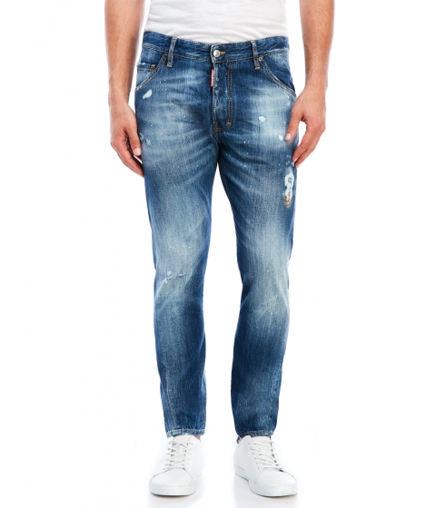 Imbracaminte Barbati DSQUARED2 Blue Distressed Jeans Blue