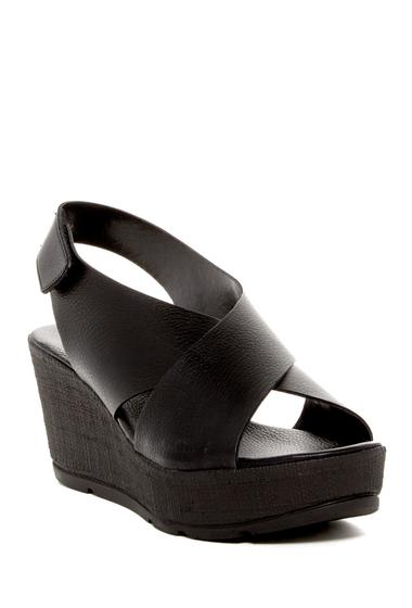 Incaltaminte Femei Callisto Criss-Cross Wedge Sandal BLACK
