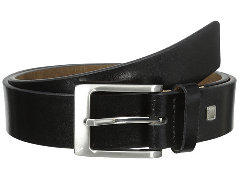 Accesorii Barbati Steve Madden 35mm Burnished Leather Belt Black