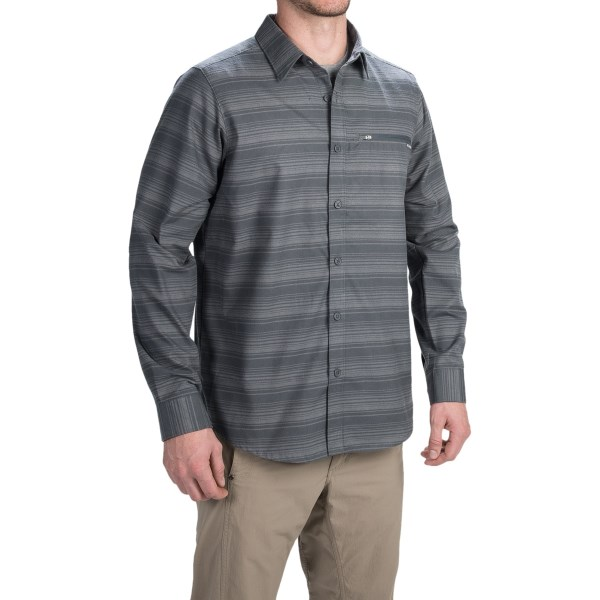 Imbracaminte Barbati Columbia Curtis Creek Omni-Wick Shirt - UPF 50 Long Sleeve GRILL STRIPE (02)